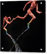 Red Shift A Science Sculpture By Adam Long Acrylic Print by Adam Long