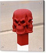 Red Skull Acrylic Print