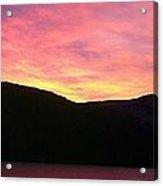 Red Sky At Morning Sailors Take Warning Acrylic Print