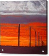 Red Sky At Night Acrylic Print