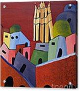 Red Sky In San Miguelle De Allende Acrylic Print
