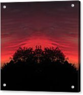 Red Sky In The Morning 02 Mirror Image Acrylic Print