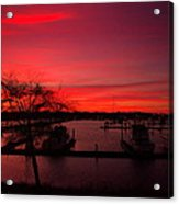 Red Sky In The Morning Two Acrylic Print