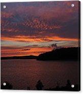 Red Sky Over Wachusett 1 Acrylic Print