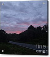 Red Sky Road Acrylic Print