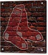 Red Sox Baseball Graffiti On Brick  Acrylic Print