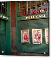 Red Sox Tickets Will Call Acrylic Print