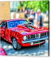 Red Sport Car Acrylic Print