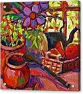 Red Still Life Acrylic Print