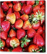 Red Strawberries Acrylic Print