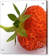 Red Strawberry With Stem Acrylic Print