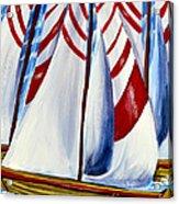 Red Stripe Sails Acrylic Print