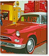 Red Studebaker Acrylic Print