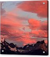 Red Sunset At Torres Del Paine Acrylic Print by Arie Arik Chen