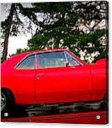 Red Super Charged Acrylic Print by Patricia Januszkiewicz