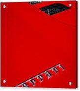 Red Supercar Acrylic Print