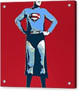 Red Superman Acrylic Print