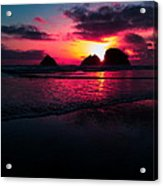 Red Surf Acrylic Print