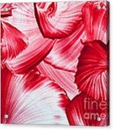 Red Swirls Background Acrylic Print