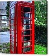 Red Telephone Box Acrylic Print