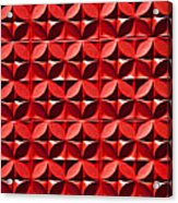 Red Textured Wall Acrylic Print