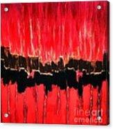 Red Thunder Clash II Acrylic Print