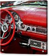 Red Thunderbird Dash Acrylic Print
