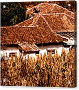 Red Tile Roof Pattern Acrylic Print