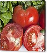 Red Tomatoes And Salade Acrylic Print