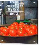 Red Tomatoes Acrylic Print