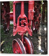 Red Tractor Acrylic Print by John Rizzuto