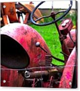 Red Tractor Rural Photography Acrylic Print