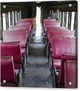 Red Train Seats Acrylic Print