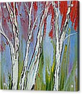 Red Trees Of Autumn Acrylic Print