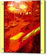 Red Trolley Portland Acrylic Print
