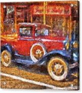 Red Truck Photo Art Acrylic Print