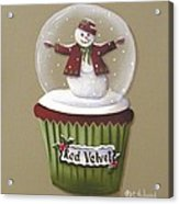 Red Velvet Cupcake Acrylic Print