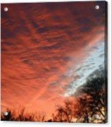 Red Velvet Sky Acrylic Print