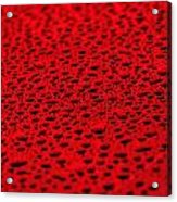 Red Water Drops On Water-repellent Surface Acrylic Print