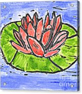 Red Waterlily Acrylic Print