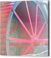 Red Wheel Acrylic Print by Lorena Mahoney
