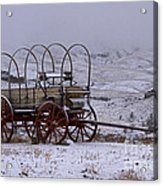 Red-wheeled Wagon   #0662 Acrylic Print