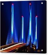 Indian River Inlet Bridge As Seen North Of Bethany Beach In This Award Winning Perspective Photo Acrylic Print