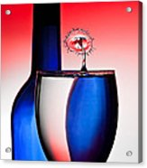 Red White And Blue Reflections And Refractions Acrylic Print by Susan Candelario