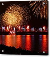 Red  White Boom Acrylic Print