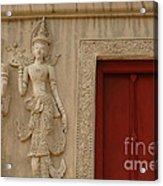 Red Window Chiang Mai Acrylic Print