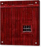 Red Window Acrylic Print