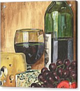 Red Wine And Cheese Acrylic Print by Debbie DeWitt