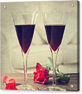 Red Wine And Roses Acrylic Print