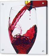 Red Wine Being Poured  Acrylic Print